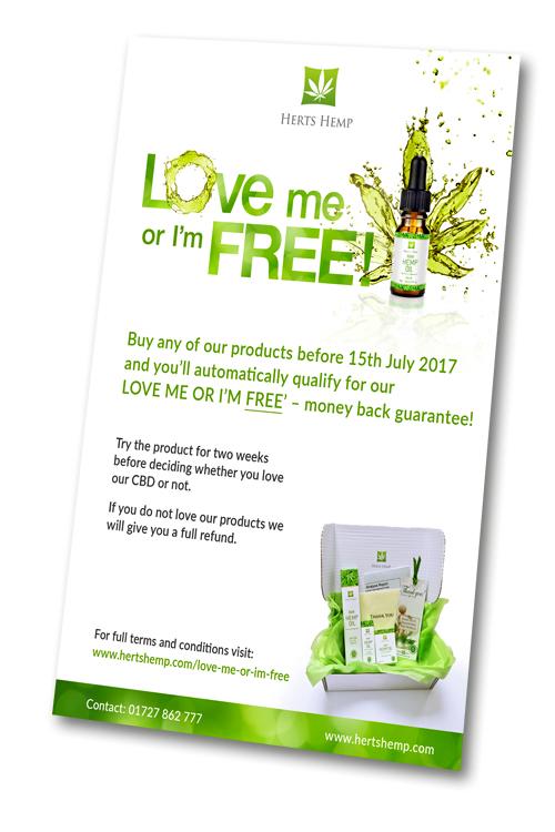 Love me or I'm FREE leaflet