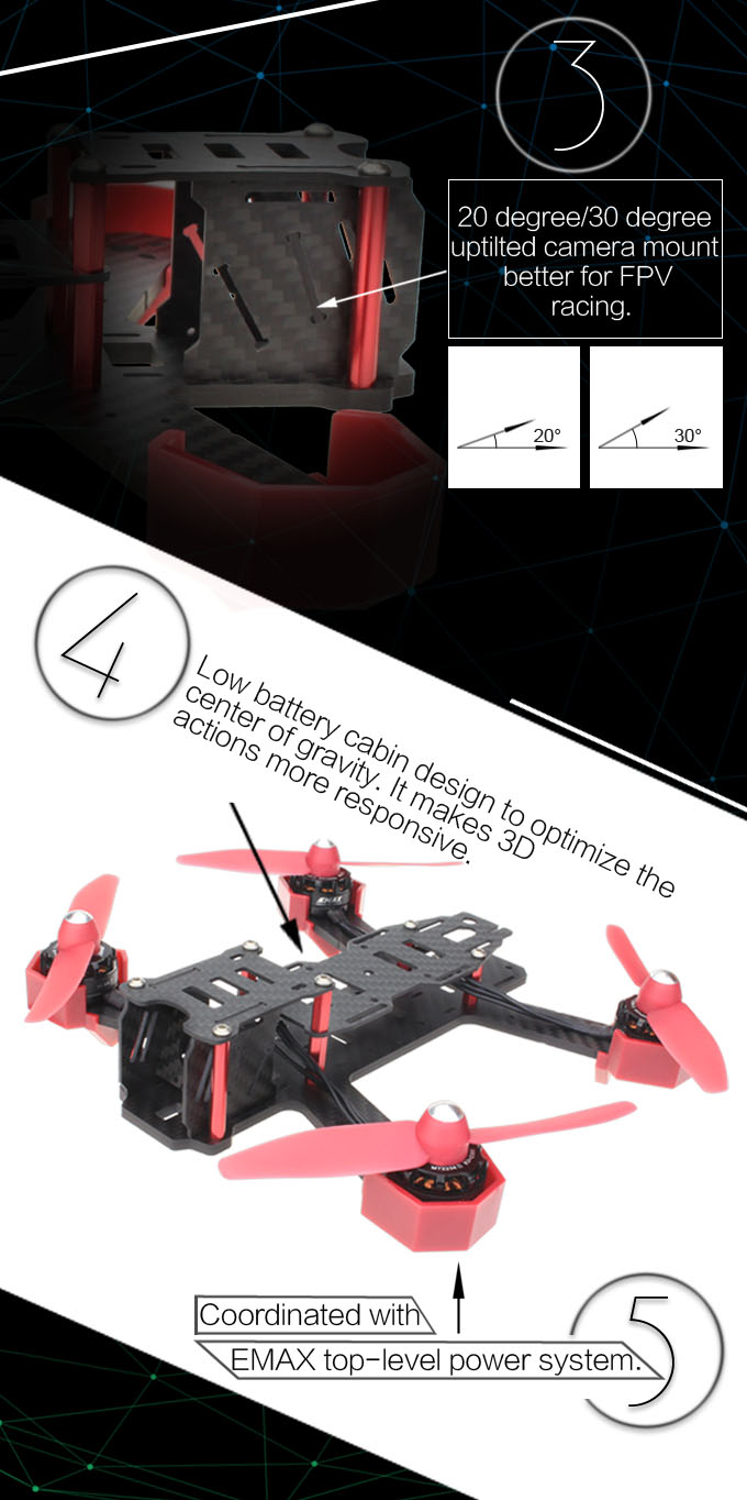 Drone racing kit 200 emax carbon