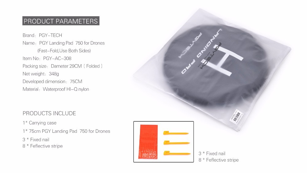 Packing list for the 75CM Landing Pad DJI Mavic - Quadcopters Uk Store