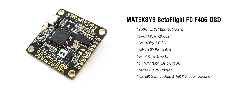 Matek F450-OSD Flight Controller UK Stock - Quadcopters.co.uk