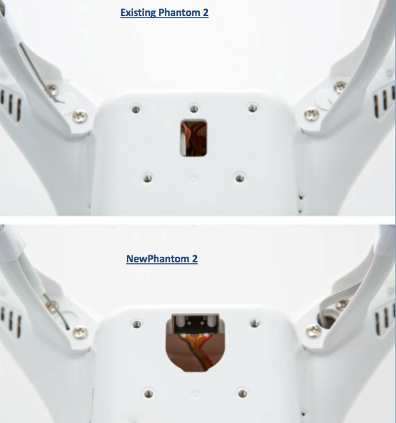 Phantom 2 Mounting bracket for H3-3D Gimbal - Quadcopters.co.uk