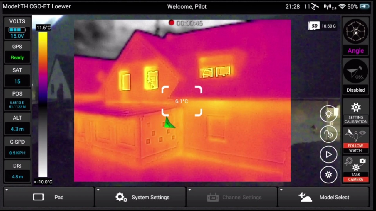 Yuneec UK Thermal Imaging example - Quadcopters.co.uk