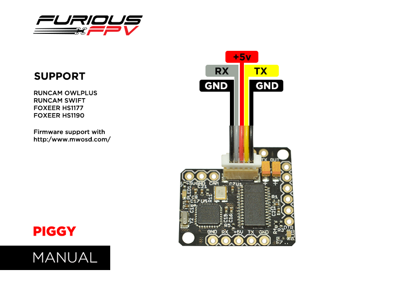 Furious Piggy osd for kiss fc uk - Quadcopters.co.uk