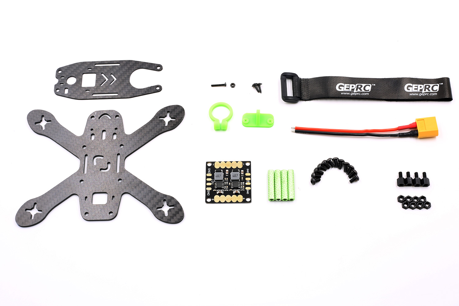 GEP130X Drone Racing Frame kit 130mm Mini Carbon - Quadcopters.co.uk