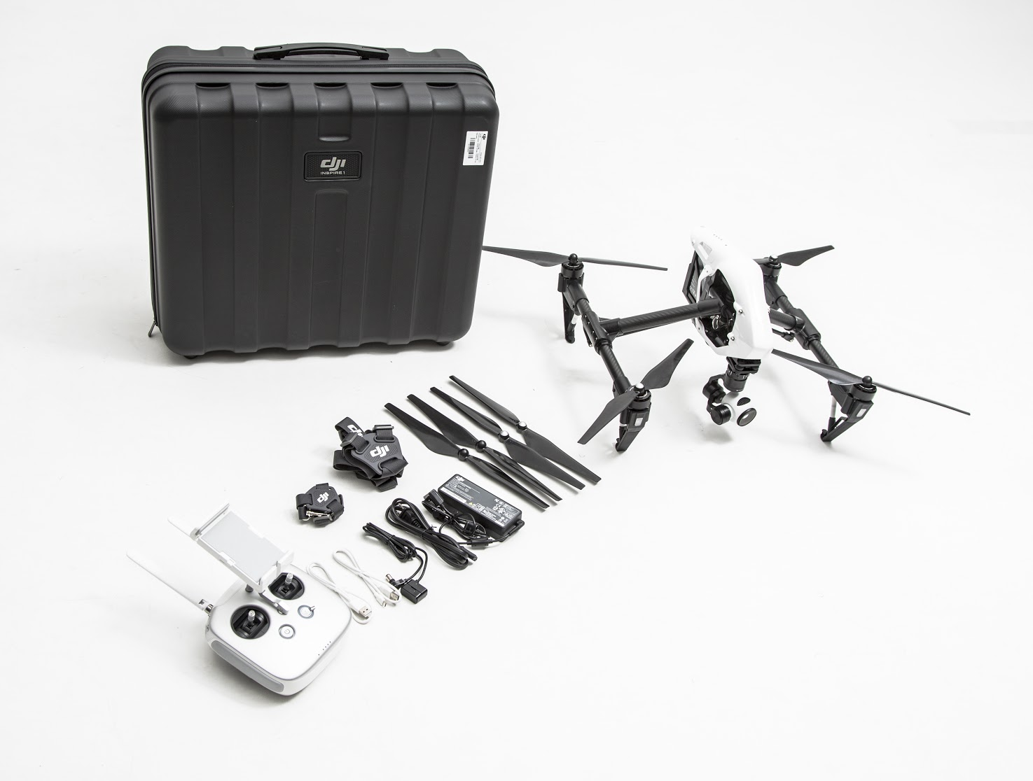 DJI Inspire 1 Dual Controller contents and case uk stock