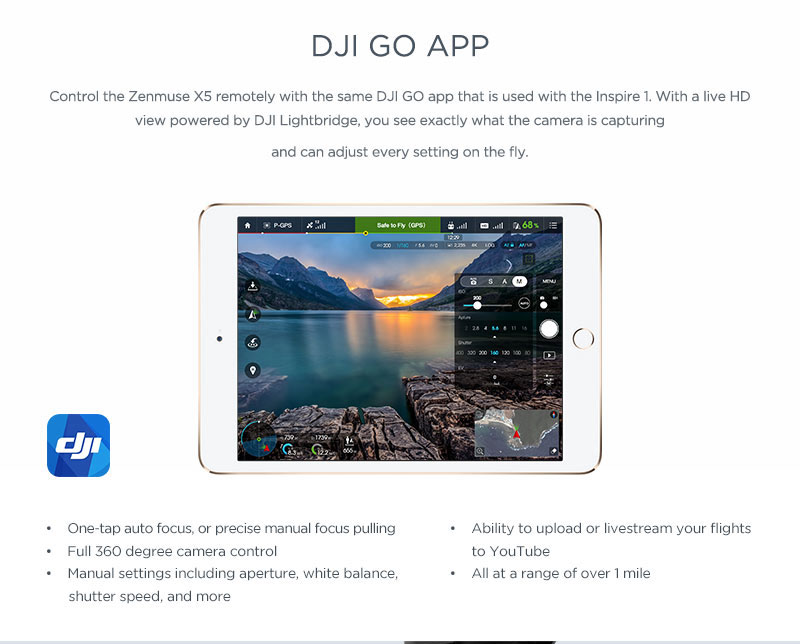 DJI Go App for Inspire 1 Drone - Quadcopters Uk