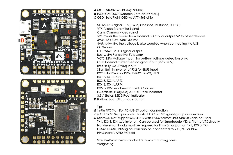 Matek Betaflight OSD FC F4 - Quadcopters.co.uk