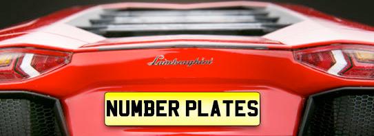Model Car Number Plates