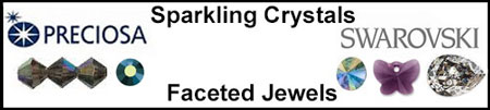 Swarovski Rivoli and Fancy Stones and Preciosa Crystal Bicones