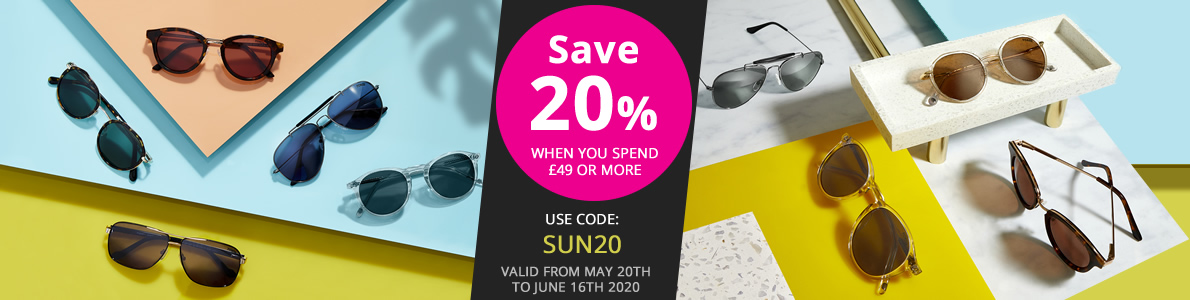 Save 20% when you spend £49 or more. Use code SUN20