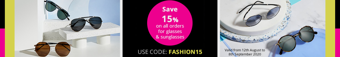 Save 15% on any purchase until 8th September. Use code: FASHION15