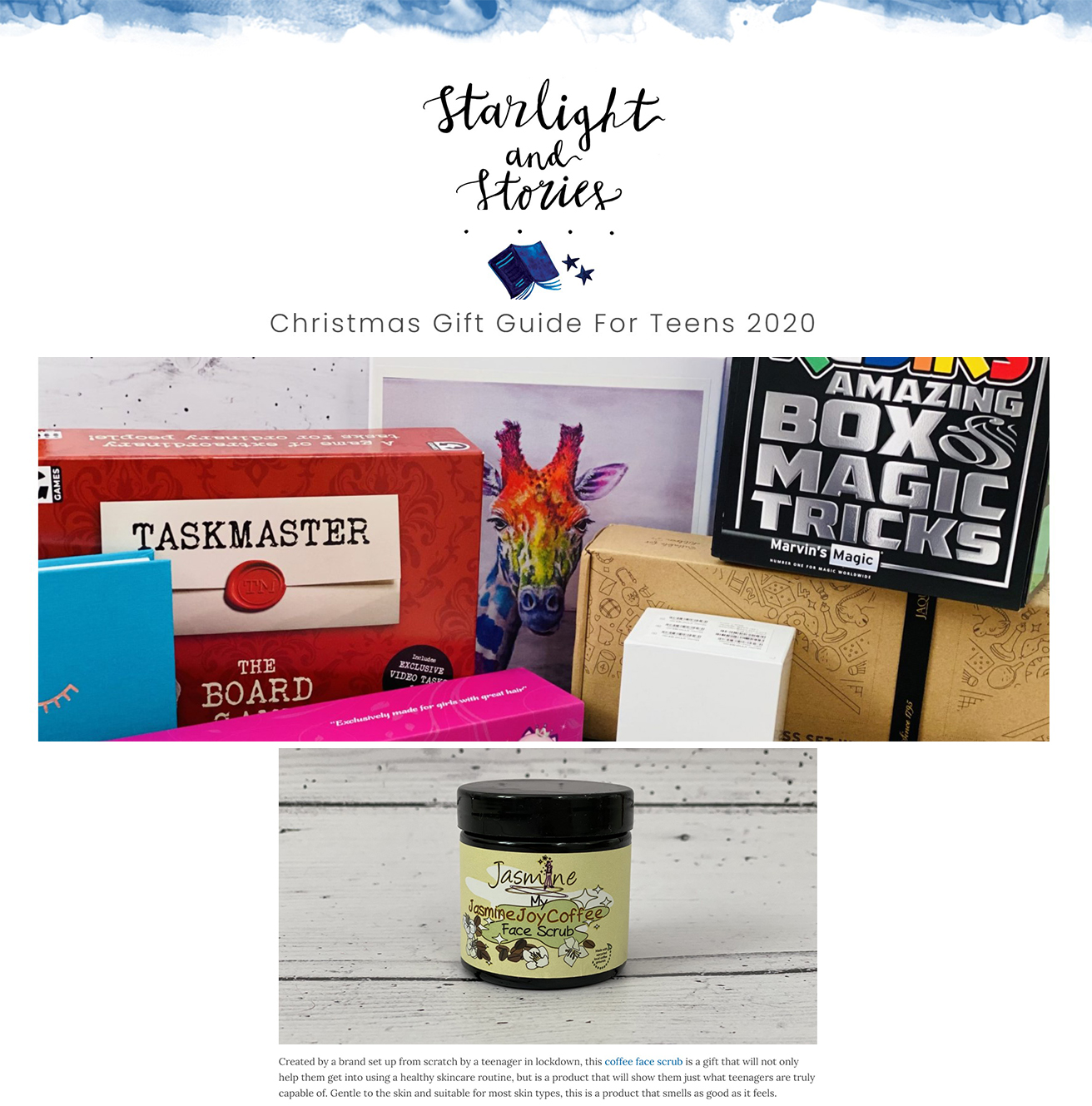 Starlights and Stories - Christmas Gift Guide for Teens
